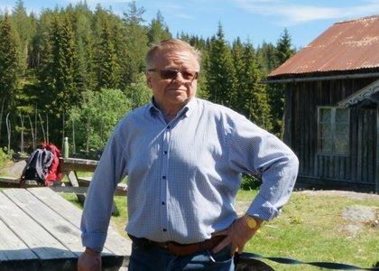Kristian Bergsund, på Bagnbergene gård.  - Klikk for stort bilde